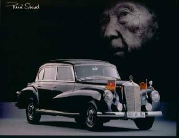 Konrad Adenauer Fuhr Im Mercedes-benz 300 - Postkarte Reprint