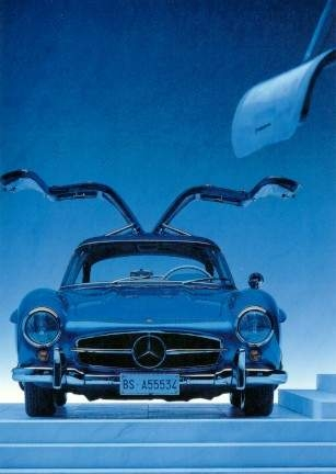 Mercedes Benz 300 Sl - Postcard Reprint