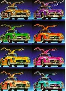 Mercedes Benz 300 Sl Warhol - Postcard Reprint