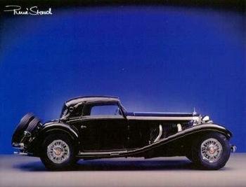 Mercedes Benz Kompressor 540k - Postkarte Reprint