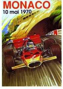 Monaco Grand Prix 1970 - Postcard Reprint