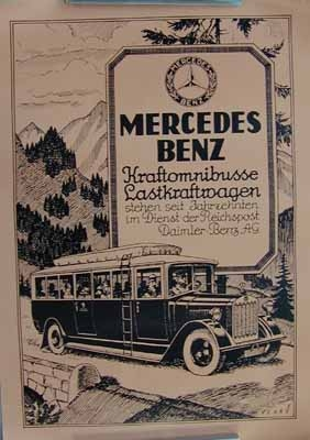 Original Mercedes-benz Reprint About 1980