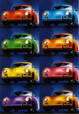 Porsche 356 Coupé Warhol - Postkarte Reprint