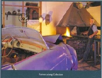 Porsche 356 Speedster Forever Young-collection - Postkarte Reprint