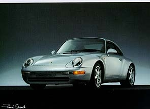 Porsche 911 Carrera 993 - Postkarte Reprint