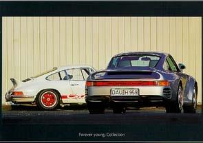 Porsche 911 Carrera Und 959 - Postkarte Reprint