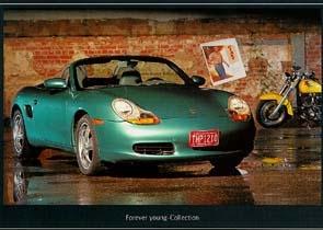 Porsche Boxster - Postkarte Reprint