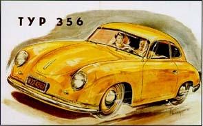 Porsche Typ 356 - Postkarte Reprint