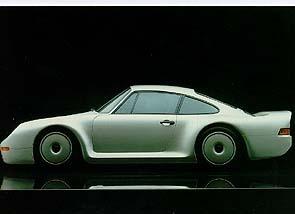 Porsche 959 Gruppe B Modell - Postkarte Reprint