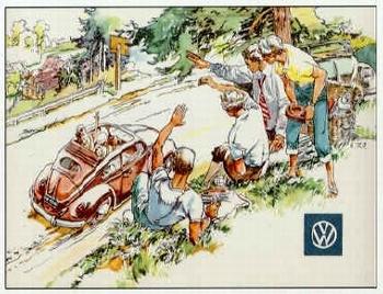Vw Volkswagen Beetle Advertisement 1956