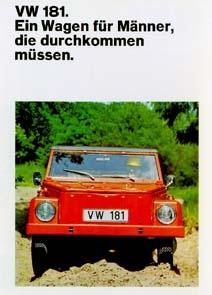 Vw Volkswagen-181 Kübel Werbung 1969