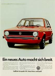 Vw Volkswagen Golf Advertisement 1974