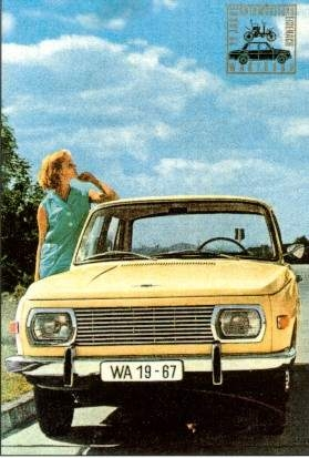 Wartburg 353 Advertisement 1967 - Postcard Reprint