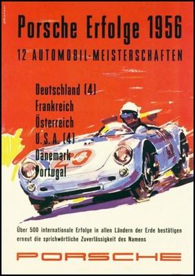 Porsche Postkarte - Erfolge 1956