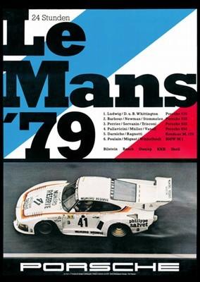Porsche Postkarte - 24 Stunden Von Le Mans 1979