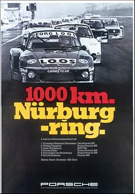 Porsche Postkarte - 1000 Km Nürburgring 1977