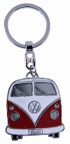 Vw Transporter T1 Metal Keyring - Red