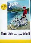 Original Plakat 1958 Meister Fahrrad