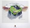 Porsche Design Studie Porsche 996 C4 Coupé, Poster 2000