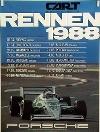 Porsche Original Rennplakat 1988 - Cart Rennen - Gut Erhalten