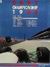 Porsche Original Werbeplakat - Porsche Cart Championship 1990 - Gut Erhalten