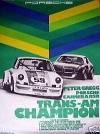 Porsche Original Rennplakat 1973 - P. Gregg Carrera Rsr Trans-am - Gut Erhalten