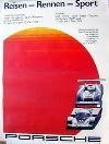 Porsche Original Rennposter 1983 - Porsche 956 C Fuji - Leichte Gebrauchsspuren