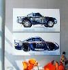 Porsche 959 Paris-dakar 1986 Poster Im Poster, 2002