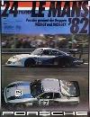 Porsche Original Rennplakat 1982 - 24 Stunden Lemans - Leichte Gebrauchsspuren