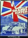 Porsche Original Rennplakat 1977 - 6h Brands Hatch - Gut Erhalten