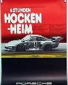 Porsche Original Rennplakat 1977 - 6 Stunden Hockenheim - Gut Erhalten