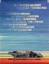 Porsche Original 1983 - Renntermine Porsche 956 - Gut Erhalten