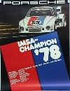 Porsche Original Rennplakat 1978 - Imsa - Gut Erhalten
