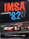 Porsche Original Rennplakat 1982- Imsa Championship - Gut Erhalten