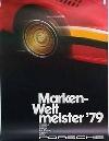 Porsche Original Werbeplakat 1979 - Markenweltmeister - Gut Erhalten