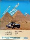 Porsche Original Rennplakat 1985 - Pharaonen Ralley - Gut Erhalten