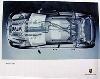 Porsche Original Werbeplakat - Porsche Cayenne Röntgen - Gut Erhalten