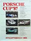 Porsche Original Rennplakat 1987 - Porsche Cup - Leichte Gebrauchsspuren