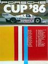 Porsche Original Racing Poster 1986 - Porsche Cup - Good Condition
