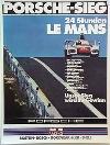 Porsche Original Rennplakat 1976 - 24h Le Mans - Leichte Gebrauchsspuren