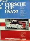 Porsche Original Rennplakat 1987 - Porsche Cup Usa - Gut Erhalten