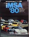 Porsche Original Rennplakat 1980 - Imsa - Leichte Gebrauchsspuren