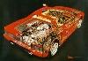 Us-import Ferrari Testarossa Cutaway Automobile