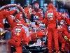 Michael Schumacher Ferrari F2002 Pit