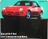 Porsche Original Werbeplakat 1991 - Porsche 968 Cabriolet - Gut Erhalten