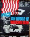 Porsche Original Rennplakat 1970 - 6h Watkins Glen - Gut Erhalten