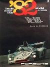 Porsche Original Rennplakat 1982 - Deutscher Rennsportmeister B, Wollek - Gut Erhalten