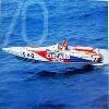 Off-shore-boot Von Della Valle. 70 Jahre Agip Poster, 1996