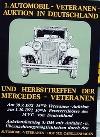 Poster Der 1. Automobil-veteranen Auktion In Deutschland Und Mercedes Veteranen, 1972