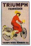 Klassische Werbung Fahrrad Triumph